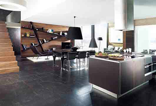 Contemporary Loft interior design by Porcelanosa2