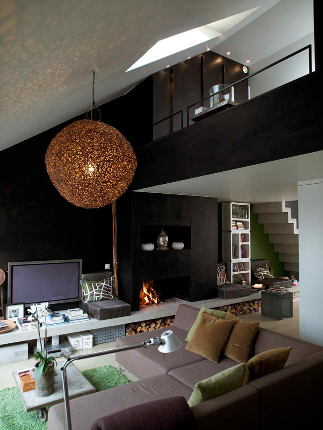 Contemporary Masculine Attic interior design