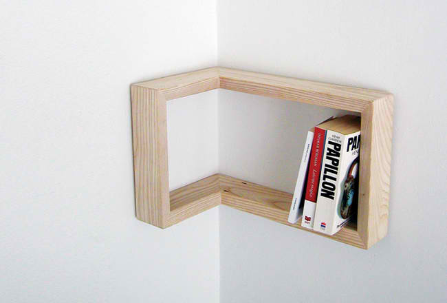 Kulma corner shelf by Martina Carpelan