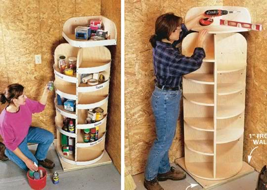 smart idea for corner shelves