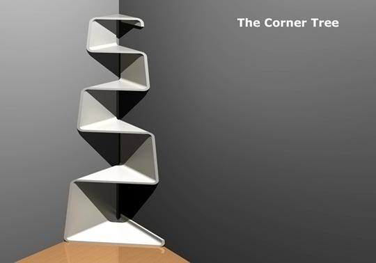 Best Corner Shelf Designs Decoholic - Corner tree bookshelf