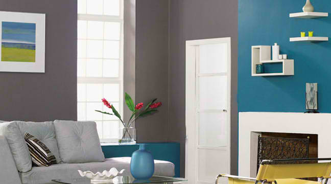 grey and blue color living room ideas - Blue Color Living Room Designs