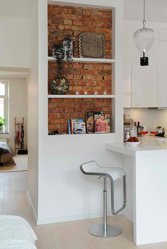 exposed brick wall kitchen design 7 ideas