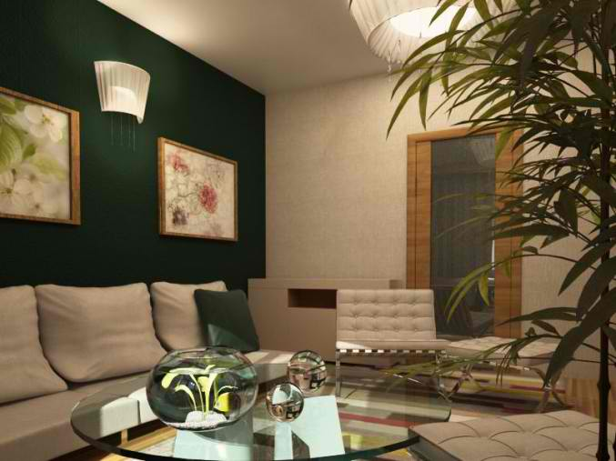 small green living room design 13