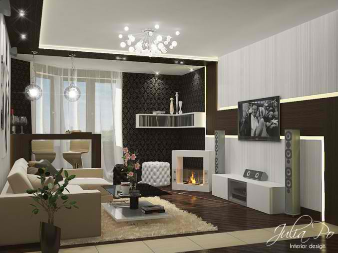 26 small inspiring living room designs decoholic - Contemporary design for small living room ...
