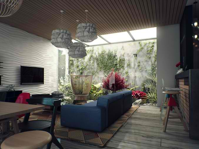 small fresh living room design 2