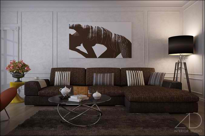 26 small inspiring living room designs decoholic for Grey and brown living room ideas