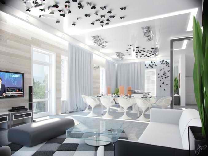 white small living room design 25