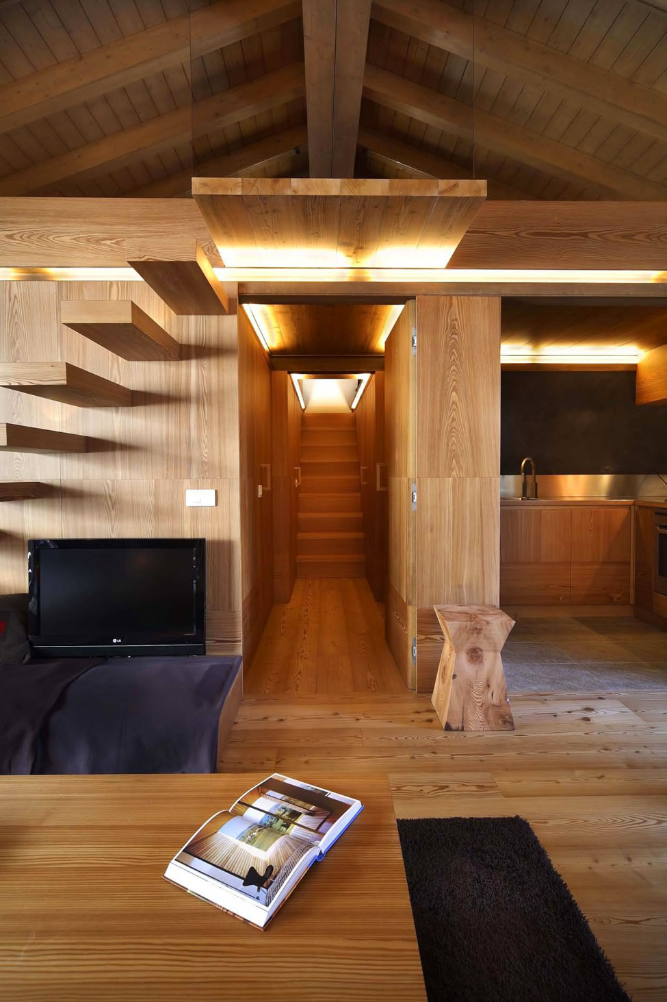 Modern wood house by studio fanetti decoholic - Housing interiors ...