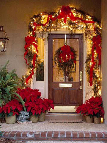 outdoor front door christmas decorations