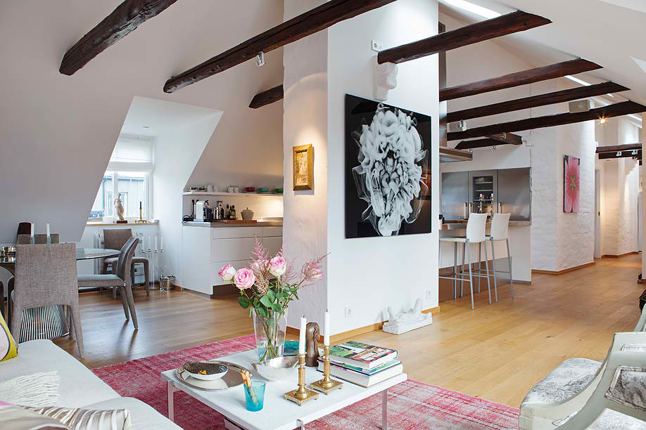 Romantic attic house in stockholm sweden decoholic for Attic decoration