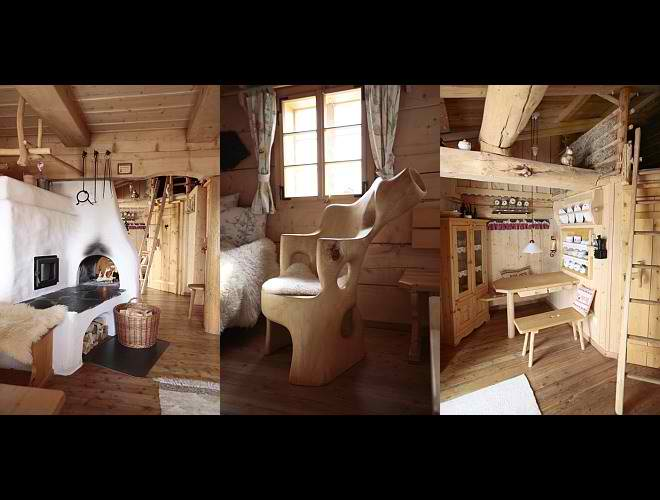 dream traditional huts interior design in Austria3
