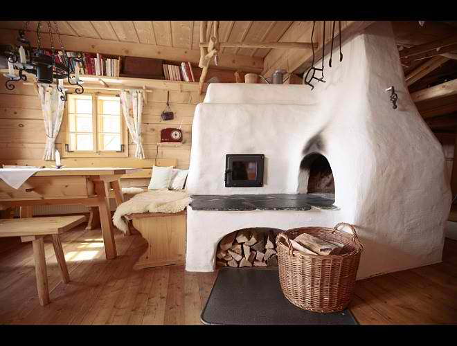 dream traditional huts interior design in Austria