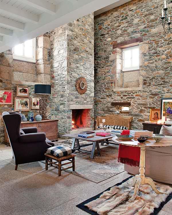 stone house interior design Vázquez
