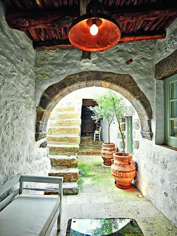 traditional greek island architecture with modern interior design7