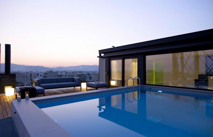 urban loft with pool exterior