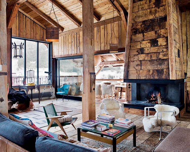 Bohemian Chalet in Alpes by Lionel Jadot