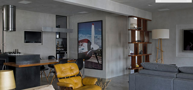 Masculine Loft interiors by Diego Revollo2