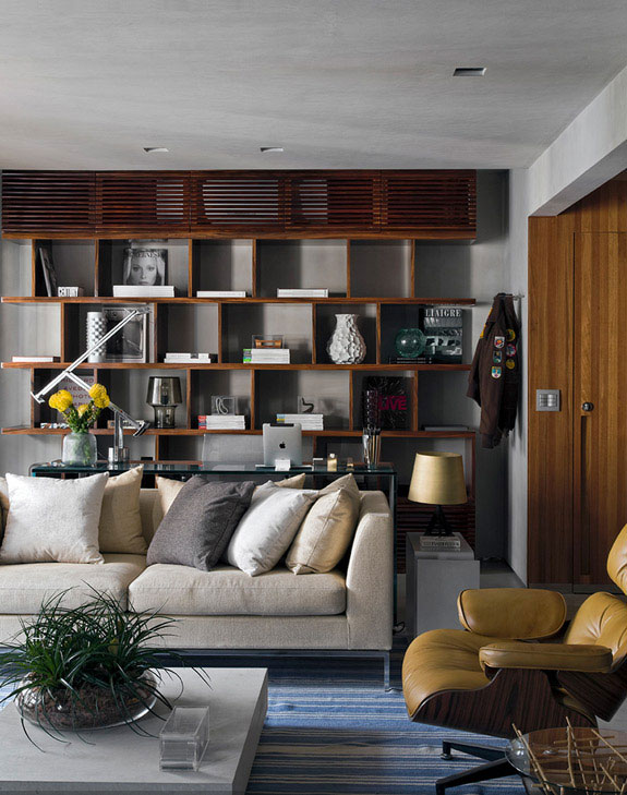 Masculine Loft interiors by Diego Revollo4