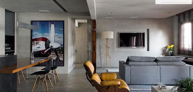 Masculine Loft interiors by Diego Revollo