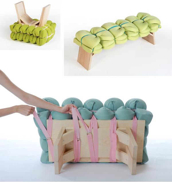 Zieharsofika 3 Benches by Flat Foam Mat
