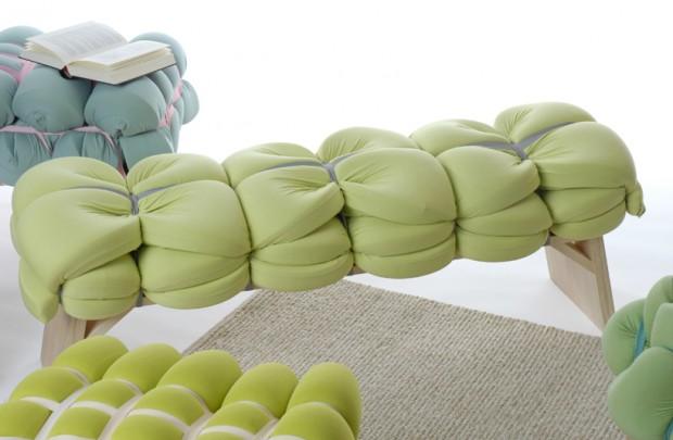 Zieharsofika 6 Benches by Flat Foam Mat
