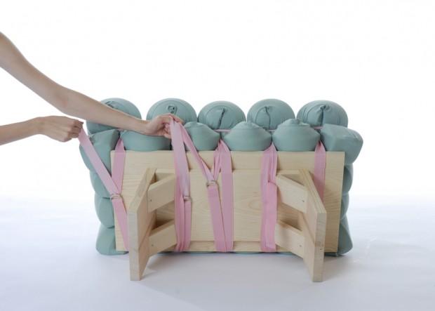 Zieharsofika 8 Benches by Flat Foam Mat