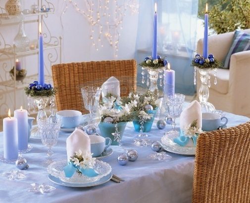 adorable light blue christmas table decorations 19 ideas