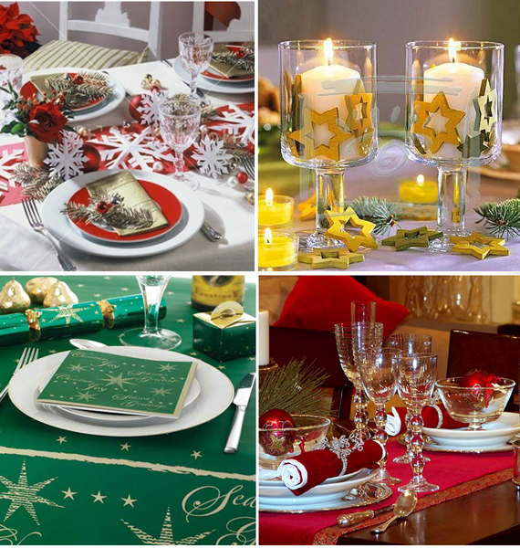 adorable christmas table decoration