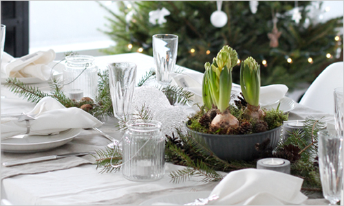 adorable christmas table decorations 28 ideas - Green Christmas Table Decorations