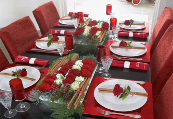 red adorable christmas table 3 decorations