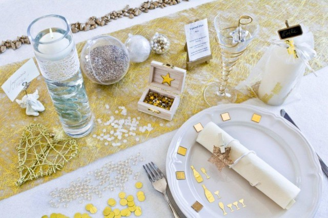 gold adorable christmas table decorations 50 ideas