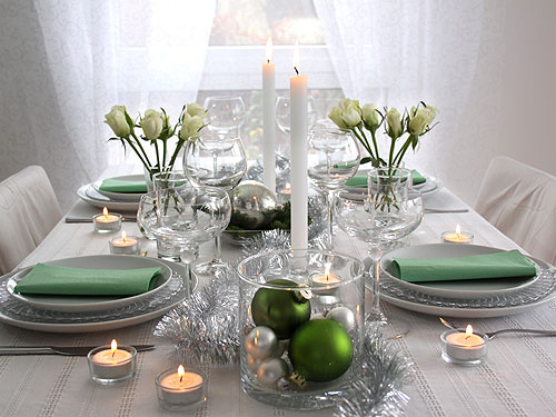 green adorable christmas table decorations 51 ideas - Green Christmas Table Decorations