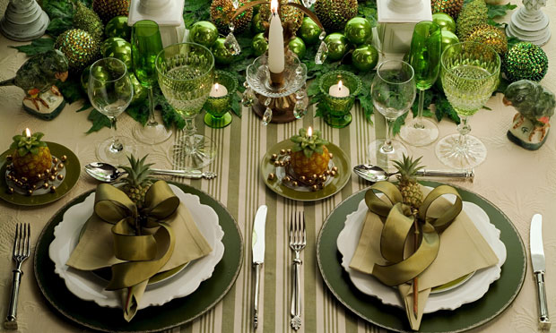 adorable christmas table decorations 65 ideas - Green Christmas Table Decorations