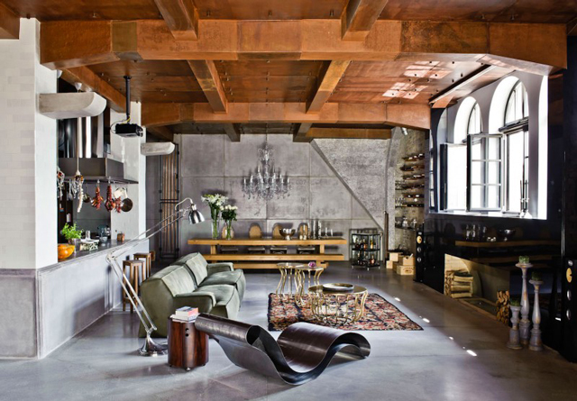 Awesome interiors Loft in Budapest