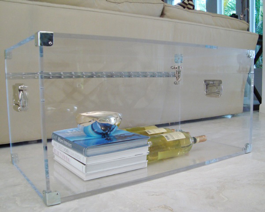 Lucite Trunk Coffee Table by Serge de Troyer2