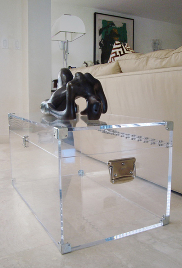 Lucite Trunk Coffee Table by Serge de Troyer3