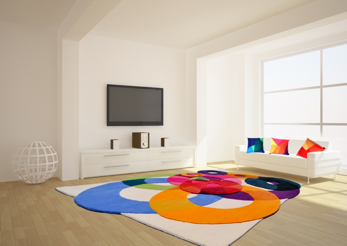 colorful 4 Rugs by Sonya Winner