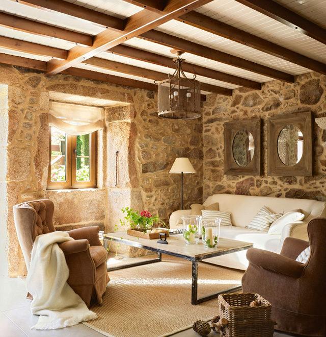 Lugar Do Cotariño Rustic stone interiors