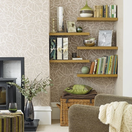21 Floating Shelves Decorating Ideas Decoholic: shelf decorating ideas living room