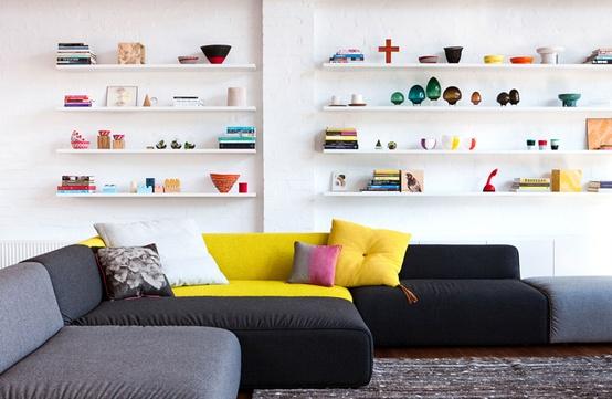floating shelves as decorating idea