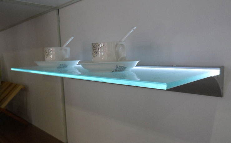 led glass floating shelf 16 decorating ideas