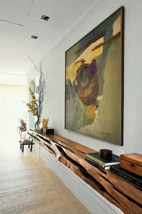reclaimed wood shelf floating 17 decorating ideas