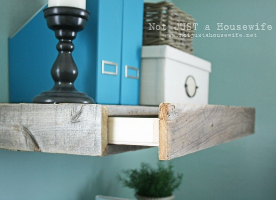 diy floating shelf with drawer decorating ideas