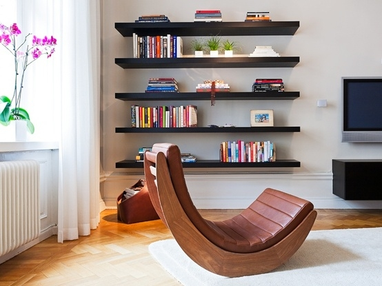 Book shelving on pinterest bookshelves bookcases and bookshelf design - Living room multi use shelf idea ...