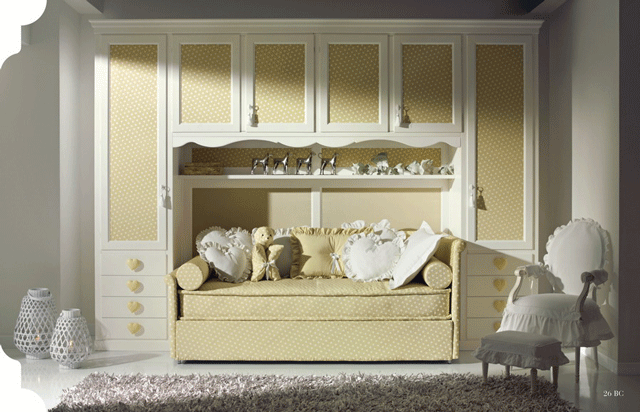 white and beige girls' bedroom furniture 12