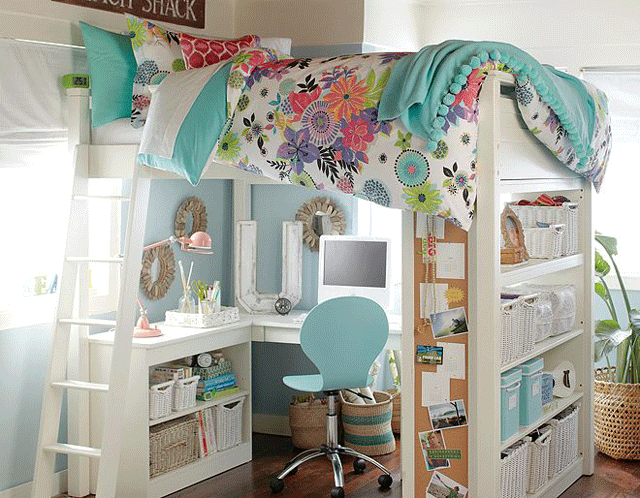 sleep and office loft girls bedroom furniture 19