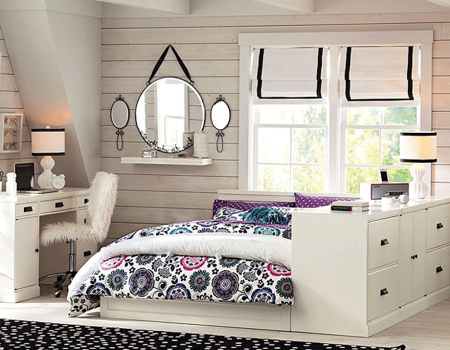 Girls 39 bedroom furniture that any girl will love decoholic for Teenage bedroom designs for small bedrooms