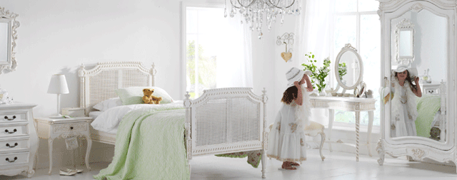 white romantic girls bedroomfurniture 8 designs