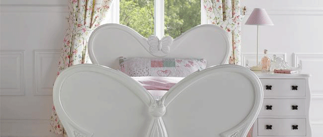 white butterfly girls bedroom furniture 9